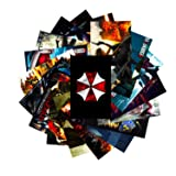GTOTd Stickers for Resident Evil 20-Pcs, Sticker Decals of Vinyls for Laptop, Water Bottle, WindowGift, Teens, Cars, Collection, Skate Board etc. (Color: Minecraft)