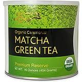 Matcha DNA Certified Organic Ceremonial Grade Matcha Green Tea, TIN CAN (16 Ounce) (Color: Green Matcha, Tamaño: 16 Ounce)