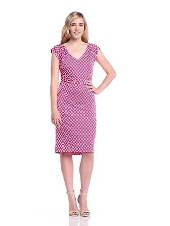 Laurèl Damen Kleid, 11274 Gepunktet, GR. 40 (40), Mehrfarbig (Mehrfarbig)