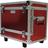 Vincent Master Case Travel Stylist Barber Case (w/Wheels, Red) (Color: Red, Tamaño: w/ Wheels)