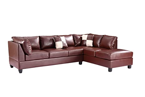 Glory Furniture G640-SC Sectional Sofa, Brown, 2 boxes