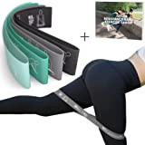 MVN Resistance Bands Set Exercises Guide Printed on Loop Bands to Tone Legs Butt Core and Arms Pilates Yoga Fitness Physical Therapy Rehabilitation (Green) (Color: Green)