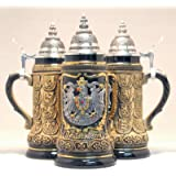 Deutschland Germany Pewter Eagle State Crests LE German Beer Stein .25L One Mug