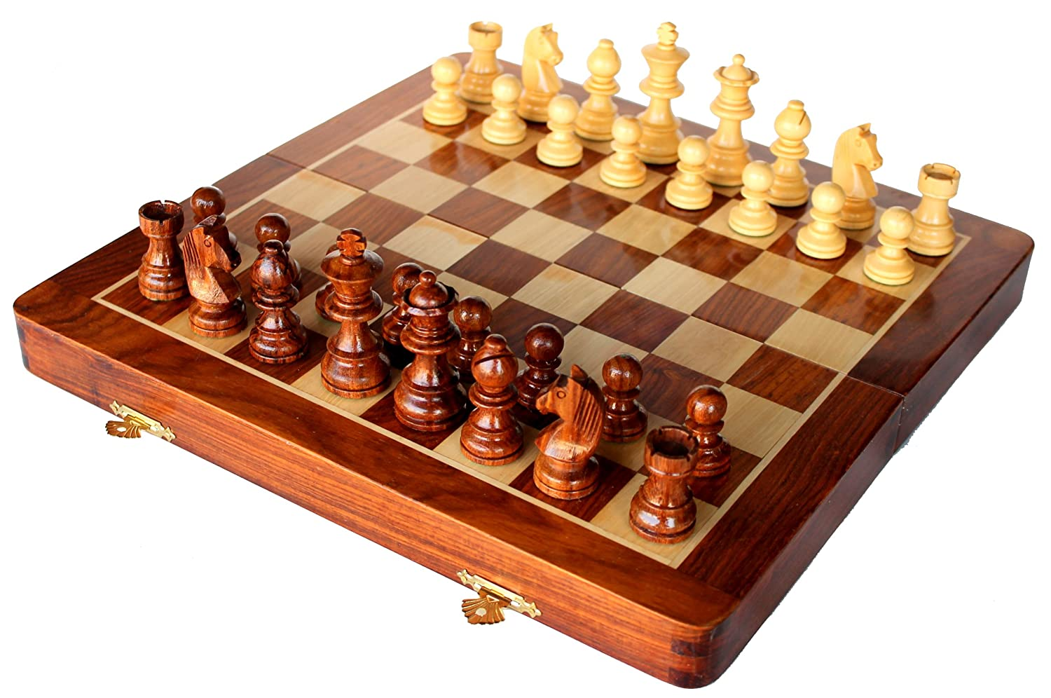Folding Wooden Chess Game Board Set-Buy Now