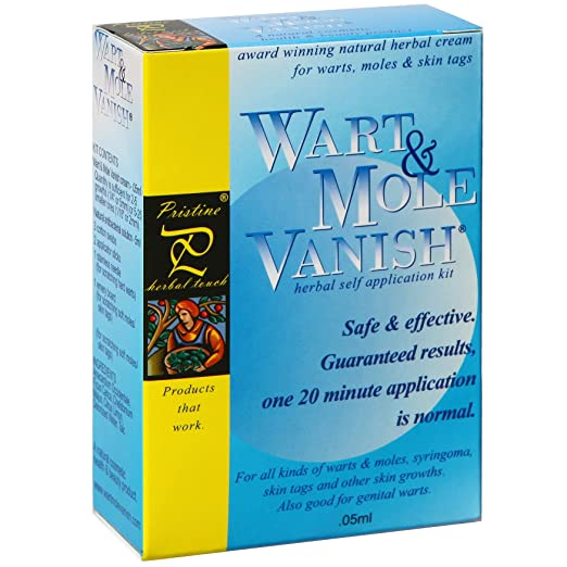 *NEW!* Mole Removal Wart Mole Vanish, Award Winning, All Natural, Guaranteed, Wart, Mole, Skin Tag Removal Product. ONE 20 minute application! Removes 25 Large growths or 525