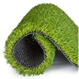 SavvyGrow Artificial Grass for Dogs Astroturf-Rug - Premium 4 Tone Synthetic Astro Turf, Easy to Clean with Drain Holes - Fake Turfs for Patios – Non Toxic (Many Sizes) (6.5 ft x 32.8 ft = 208 sq ft)