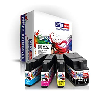 Lexmark compatible 200 / 210 XL multiPack of 5 high quality Ink Cartridges (2x BK & 1x C/M/Y) for OfficeEdge Pro 4000 / Pro 4000c & OfficeEdge Pro 5500 / Pro 5500t       Customer reviews and more information