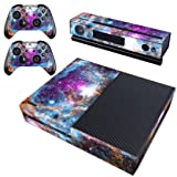 Decal Moments Xbox One Skin Set Vinyl Decal Skin Stickers Protective for Xbox One Console Kinect 2 Controllers-Galaxy Space