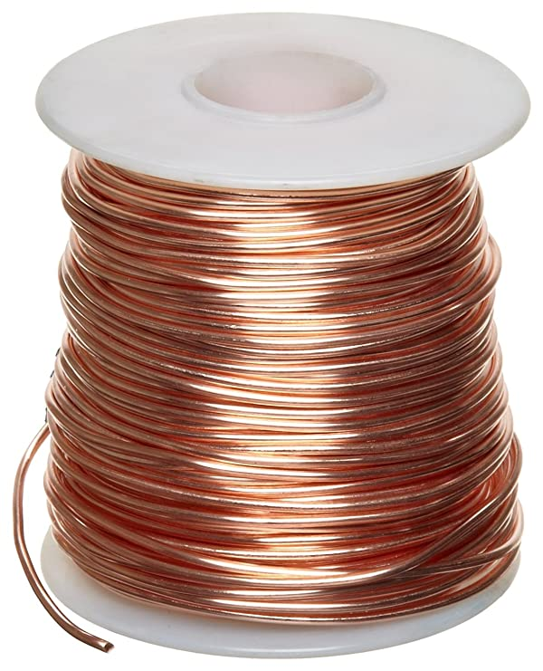 Bare Copper Wire, Bright, 14 AWG, 0.064 Diameter, 80' Length (Pack of 1) (Color: Original Version)