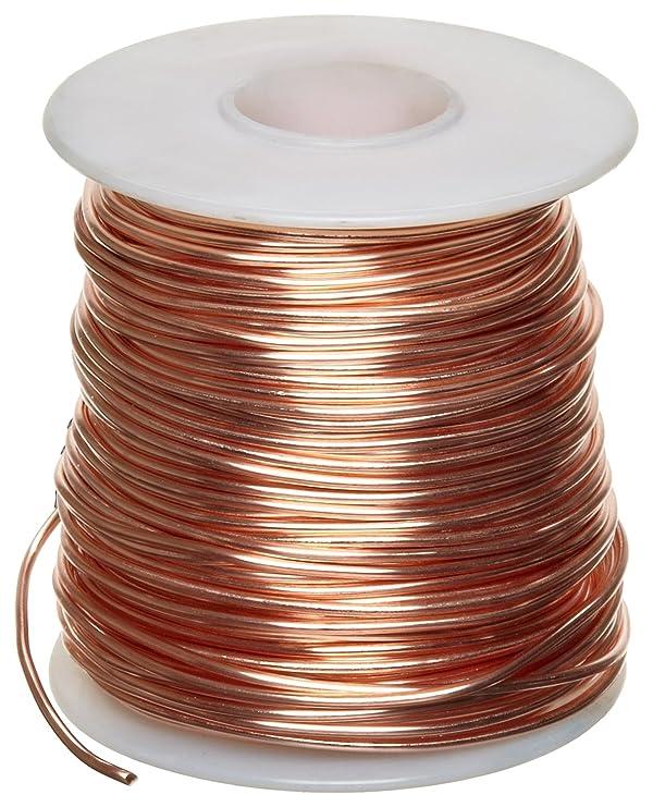 Bare Copper Wire, Bright, 14 AWG, 0.064 Diameter, 80' Length (Pack of 1) (Color: Original Version)
