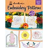Aunt Martha's 410 Fanciful Flowers Embroidery Transfer Pattern Book Kit