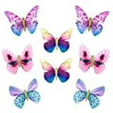 Elesa Miracle Baby Girl Hair Clips Toddlers Infants Kids Hair Butterfly Snap Clips Barrettes (8pc- Colorful Butterfly) (Color: 8pc- Colorful Butterfly, Tamaño: One Size)