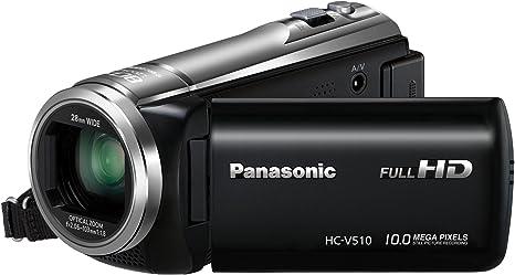 Panasonic HC-V510EG-S Caméscope avec écran tactile LCD 7,6 cm, capteur MOS 10 Mpx, Full HD, zoom optique 50x et USB 2.0
