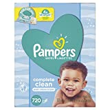 Pampers Baby Wipes Complete Clean Scented 10X Pop-Top Packs, 720 Count