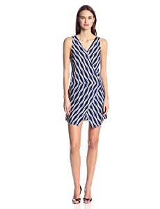 Print: Geometric Print   Material: Rayon  Dress Silhouette: Shift   Shoulder: Sleeveless   Neckline: V-Neck   Embellishments: Wrap   Size Category: Adult  Dry Clean
