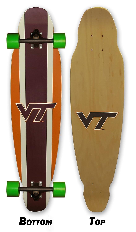 Virginia Tech Longboard Skateboard Complete Virginia Tech Made In the USA 4 wheel skateboard complete longboard 41 inch