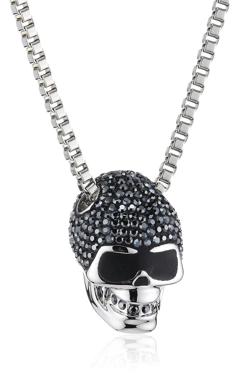 Swarovski Damen-Kette mit Anhänger Edelstahl Taddeo Skull Jet Hematite Pointiage Kristall 1.5 x 2 cm / 50 cm 1180839 online kaufen