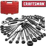 New Craftsman 56 Piece pc Universal Mechanics Tool Set Socket Wrench Garage Auto (Color: Black oxide, Tamaño: Multi size)