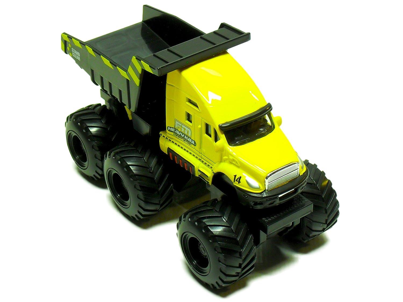 buy maisto builder zone quarry monsters tow truck die cast toy maisto fresh metal builder zone quarry monster yellow dump truck motorized 6 wheeler