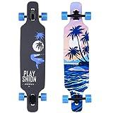 Playshion 39 Inch Drop Through Longboard Skateboard Cruiser