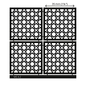 LUCY CLAY Microstencils Texture Sheets for Polymer Clay 3.12 x 3.12 5-pcs Set (Microstencils Set 4) (Color: Microstencils SET 4)