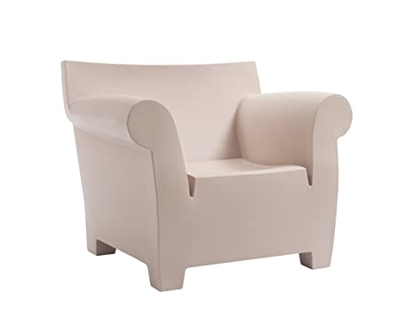 Kartell Bubble Club Sofa, Plastik, rosa, 75 x 102 x 78 cm