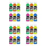 Sargent Art 22-2806 Fluorescent Acrylic Paint Set, 4 Ounce, 6-Pack (4-Pack) (Color: 4-Pack)