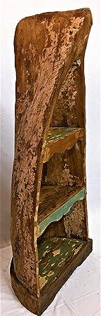 Libreria Etnica Canoa originale Indonesiana Vintage legno Teak Massello Arredamento Etnico in Promozione Artigianale Mobili Orientali