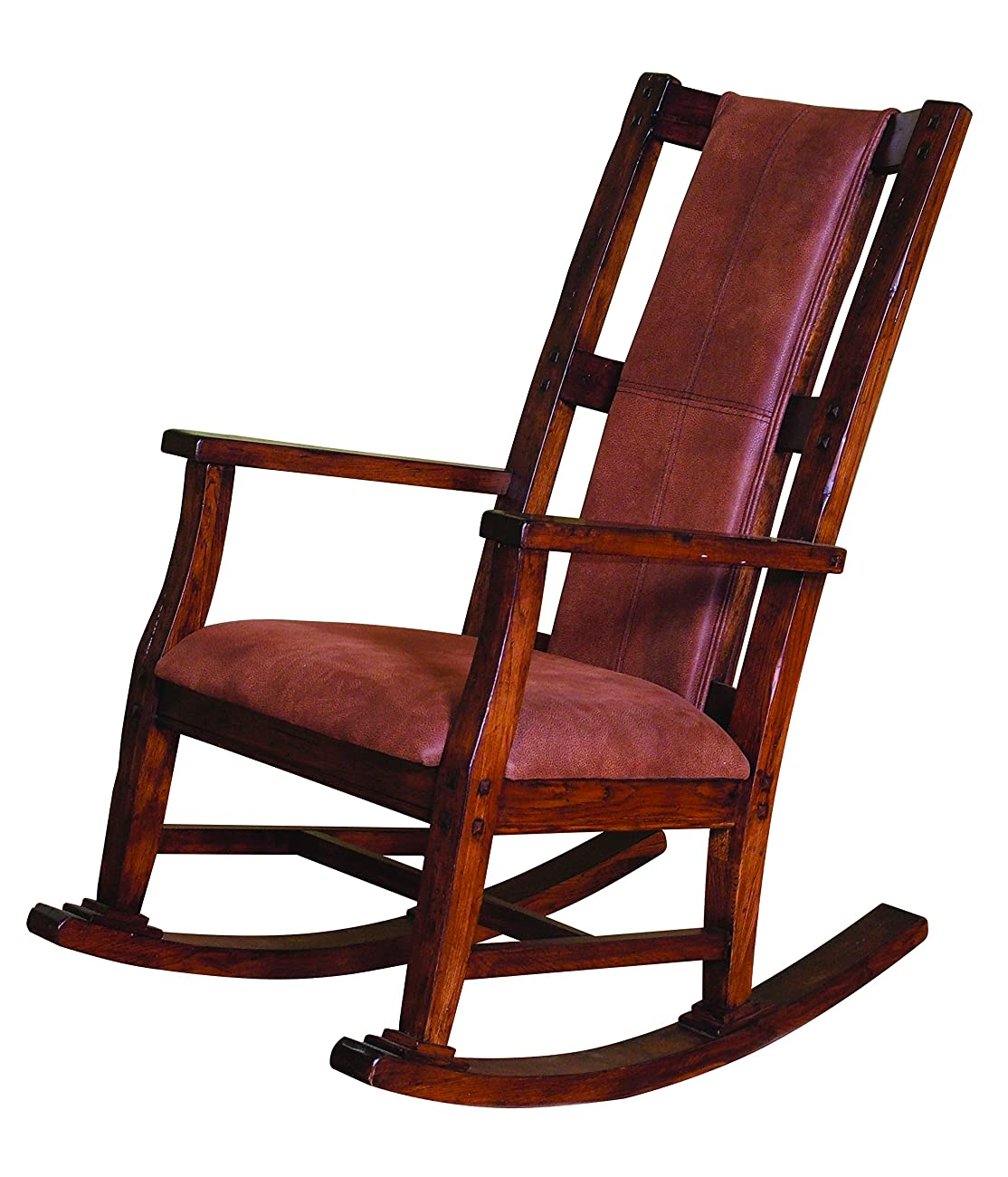 Sunny Designs 1935DC Santa Fe Rocker with T-Fabric Seat and Back, Dark Chocolate Finish 0