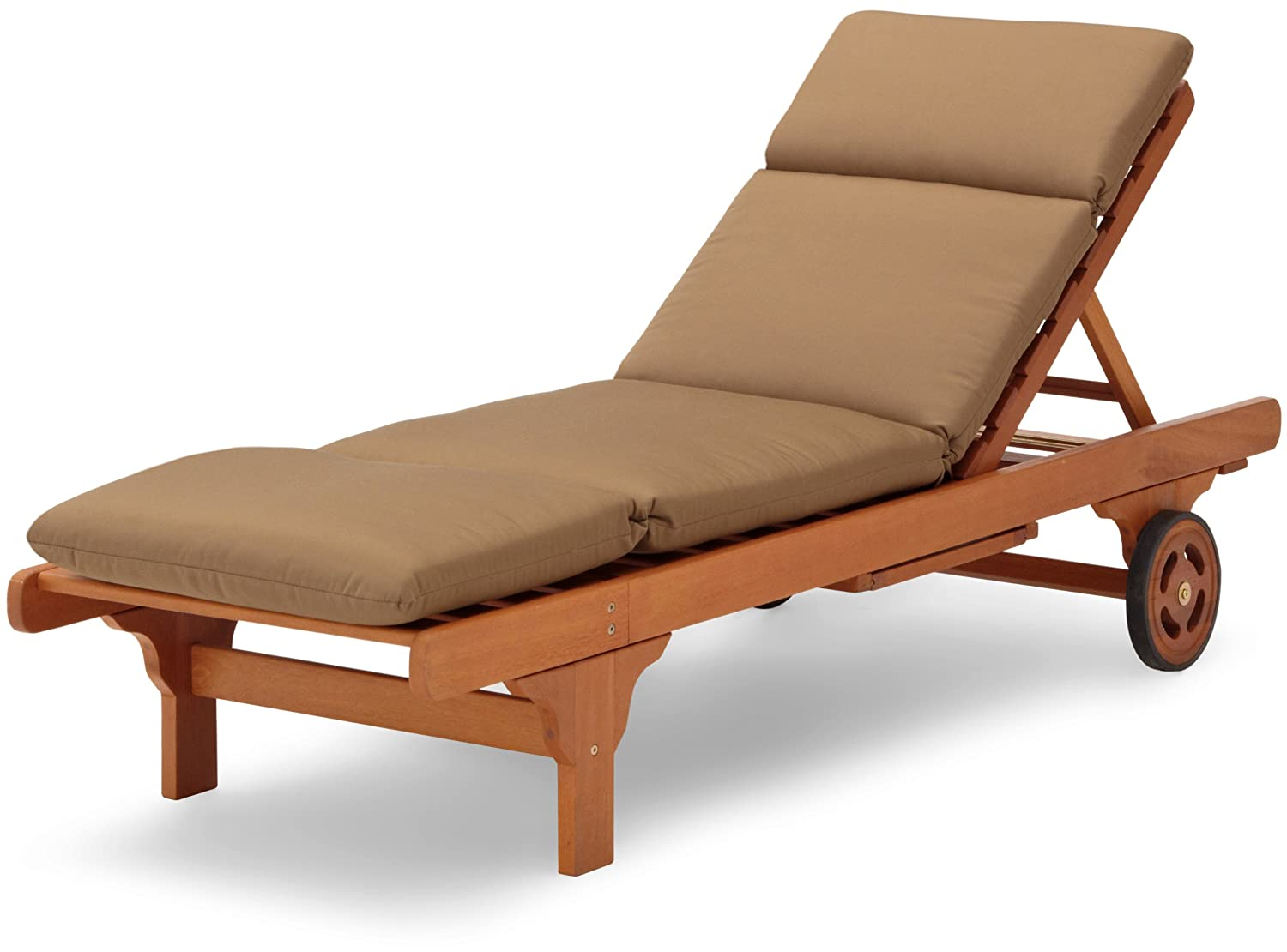 Hardwood chaise lounge sunbrella cushion reverse acrylic for Acrylic chaise lounge