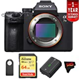 Sony a7 III Mirrorless Digital Camera (Body Only) International Version (No Warranty) Starters Kit (Color: Starters Kit, Tamaño: Body Only)