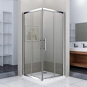 Duschkabine Duschabtrennung Dusche Duschwand Schiebetür Eckeinstieg 80x80cm  Überprüfung und Beschreibung