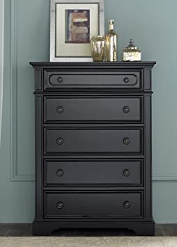Liberty Carrington II 5 Drawer Chest - Black