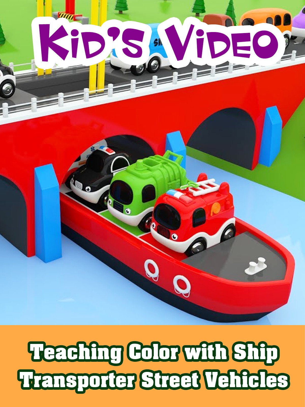 Teaching Color with Ship Transporter Street Vehicles