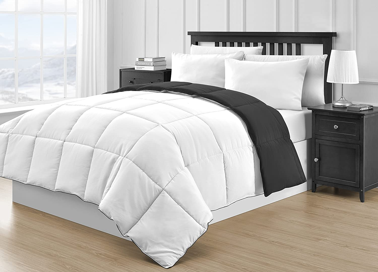 how to make a bed with a down comforter