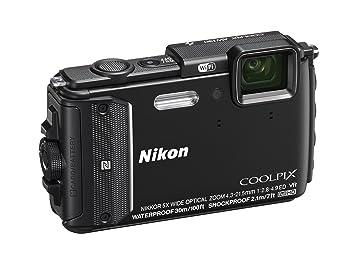 """Nikon Coolpix AW130 - appareil photo Compact 16 MP (écran 3 """", zoom optique 5x, stabilisateur électronique, Full HD, WiFi), noir"""