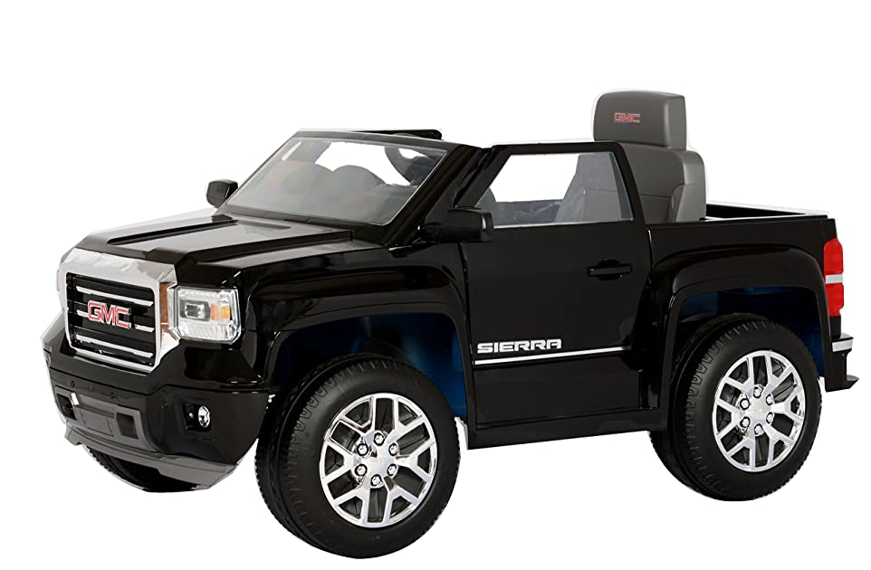 rollplay gmc sierra truck 6 volt battery powered ride on. Black Bedroom Furniture Sets. Home Design Ideas