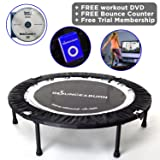 MXL MaXimus Life Bounce & Burn Mini Trampoline Rebounder Affordable & Fun Way to Lose Weight and get FIT! Includes DVD and 3 Months Free Video Membership