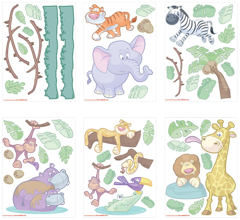 Wandtattoo – Wandtattoo Kinderzimmer – Baby Dschungel jetzt kaufen