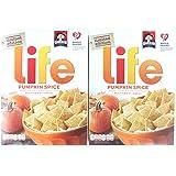 2 Boxes Life Pumpkin Spice Multigrain Cereal 13 oz