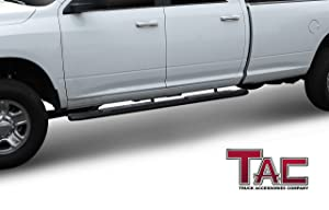 Texture Powder Coating Brackets TAC Side Steps Fit 2009-2018 Dodge Ram 1500//2010-2019 Dodge Ram 2500//3500//4500//5500 Crew Cab 4.25 Oval Bend Texture Black Nerf Bars Step Rails Running Boards 2 Pcs