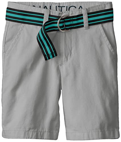 Nautica Little Boys' Classic Belted Flat-Front Short