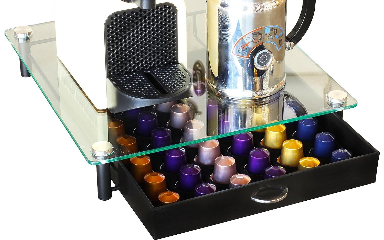 Decobros Coffee Pod Pack Storage Glass Drawer Holder