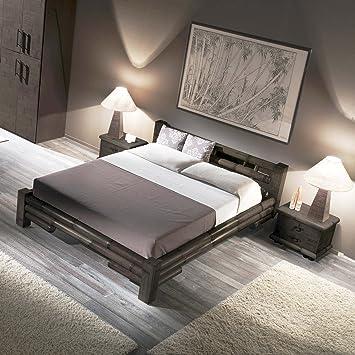 Bambusbett Möbel aus Bambus TABANAN Bett negra 140x200 Holzbett Designerbett Bambus