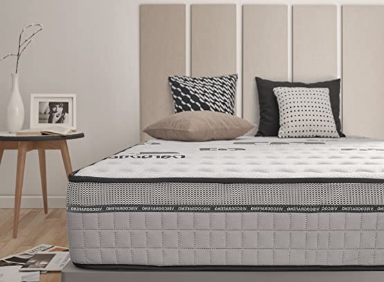 Materasso 180 x 190 cm VISCO CARBONE 25 cm schiuma di lattice Blue Latex® + Aero latex® e memory foam BIO MEMORY®. 7 zone differenziata, anallergico. ALTA QUALITÀ di Naturalex, antistatica