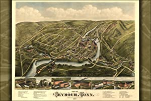 1879 Map of Seymour, Connecticut
