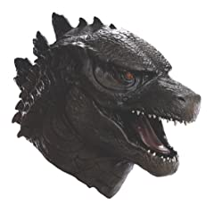 Rubies Costume Mens Godzilla Deluxe Overhead Latex Mask