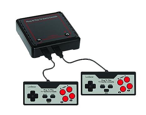 Lexibook JG7800 Console de jeux Plug N' Play avec 300 jeux et 2 manettes – multijoueur, se branche à votre TV - jeux de moto, jeux de course, jeux de sport, jeux de stratégie, jeux d'arcade