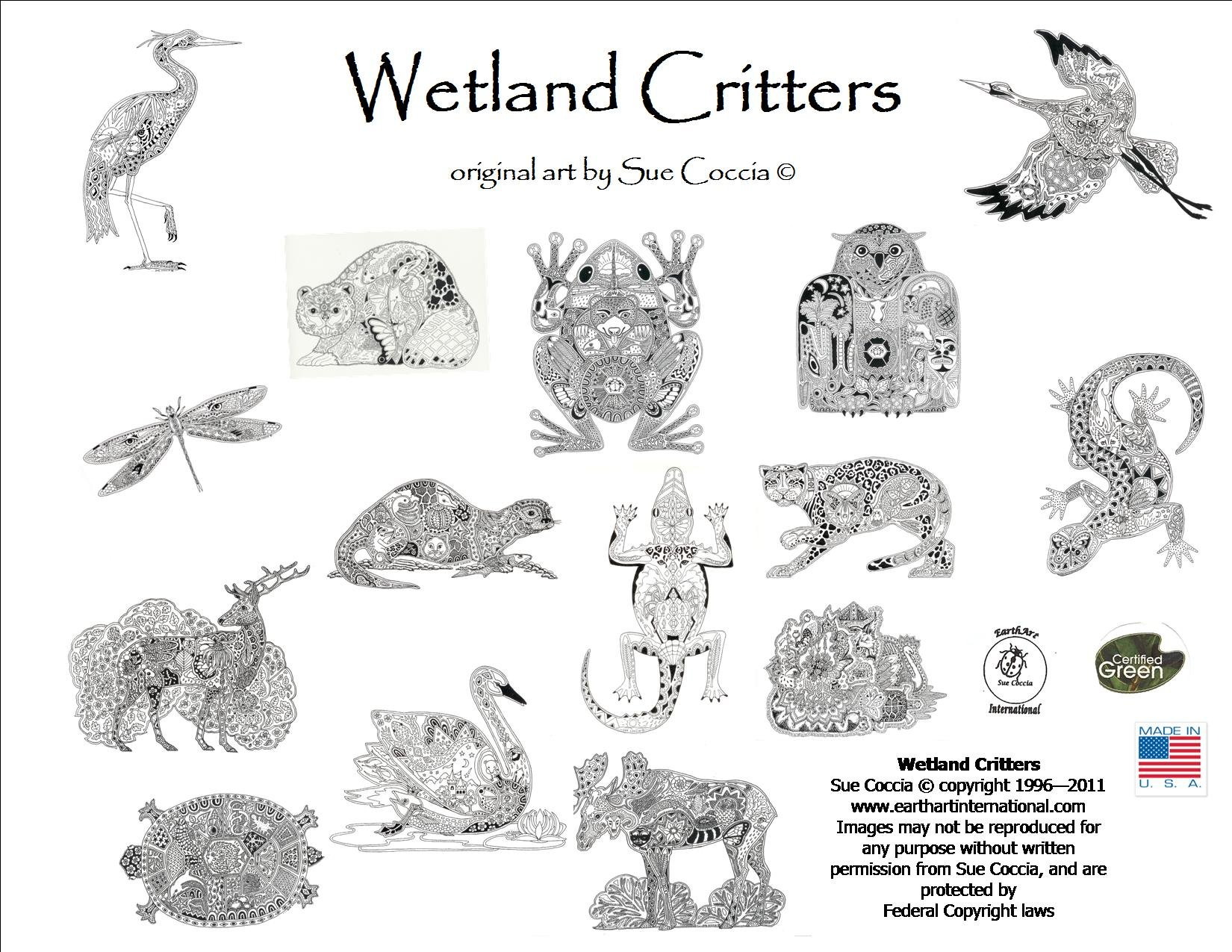 Coloring Pages Of Wetland Animals : Wetlands animals coloring pages