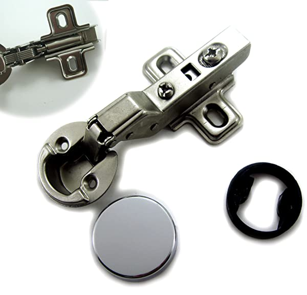 Dia 1/26mm Hole Euro Hydraulic Soft Close Hinge for Cabinet Glass Door (Insert) (Tamaño: CUP size 26mm (=1 inch))